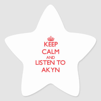 Keep calm and listen to AKYN Star Stickers