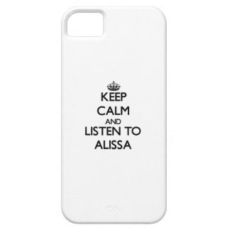Keep Calm and listen to Alissa Cover For iPhone 5/5S