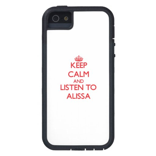 Keep Calm and listen to Alissa iPhone 5/5S Cover