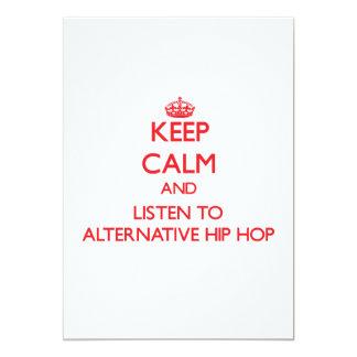 Keep calm and listen to ALTERNATIVE HIP HOP Announcement