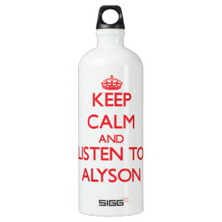 Keep Calm and listen to Alyson SIGG Traveler 1.0L Water Bottle