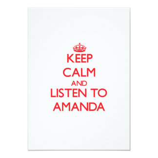 Keep Calm and listen to Amanda Personalized Announcements