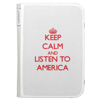 Keep Calm and listen to America Kindle Keyboard Case