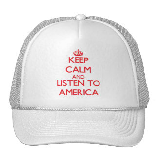 Keep Calm and listen to America Mesh Hat