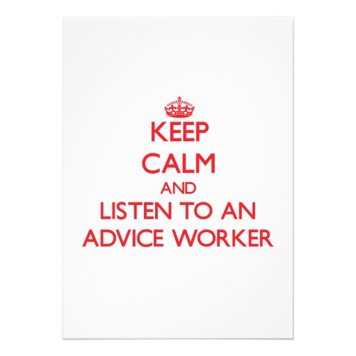 Keep Calm and Listen to an Advice Worker Personalized Announcements