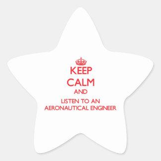 Keep Calm and Listen to an Aeronautical Engineer Sticker