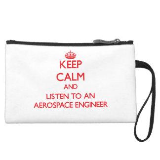 Keep Calm and Listen to an Aerospace Engineer Wristlet Purses
