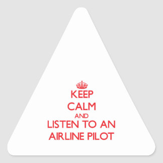 Keep Calm and Listen to an Airline Sticker