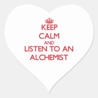 Keep Calm and Listen to an Alchemist Sticker