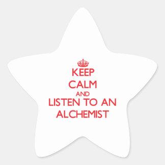 Keep Calm and Listen to an Alchemist Stickers