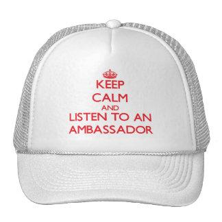 Keep Calm and Listen to an Ambassador Hats