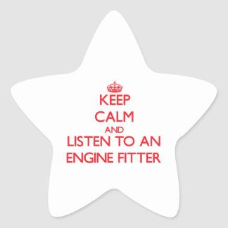 Keep Calm and Listen to an Engine Fitter Stickers