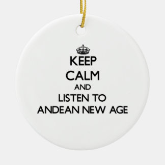 Keep calm and listen to ANDEAN NEW AGE Christmas Tree Ornaments