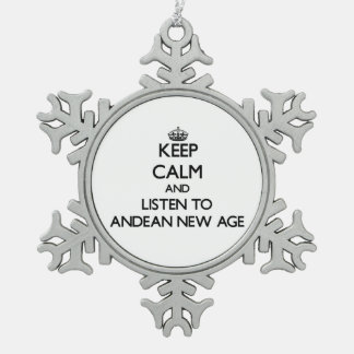Keep calm and listen to ANDEAN NEW AGE Ornament