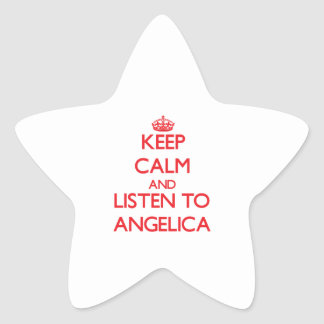 Keep Calm and listen to Angelica Star Sticker