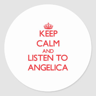 Keep Calm and listen to Angelica Sticker