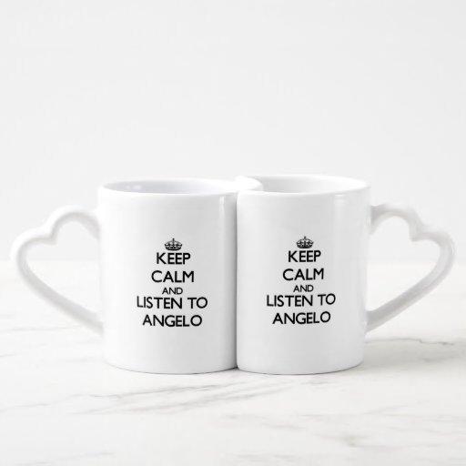 Keep Calm and Listen to Angelo Lovers Mug Sets