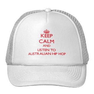 Keep calm and listen to AUSTRALIAN HIP HOP Hats