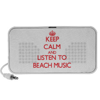 Keep calm and listen to BEACH MUSIC iPod Speakers