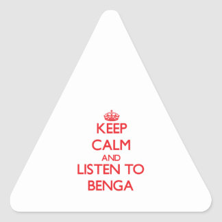 Keep calm and listen to BENGA Sticker