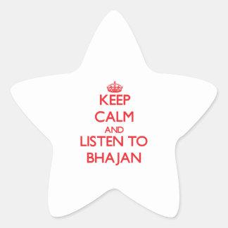 Keep calm and listen to BHAJAN Sticker