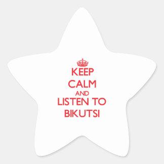 Keep calm and listen to BIKUTSI Stickers
