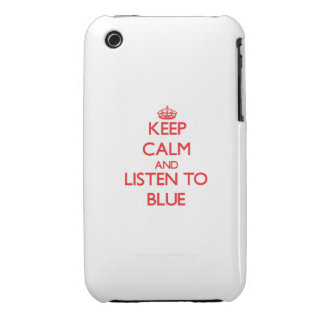Keep calm and listen to BLUE iPhone 3 Case