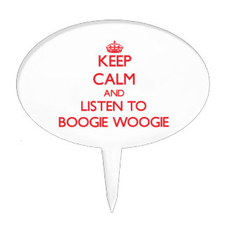 Keep calm and listen to BOOGIE WOOGIE Cake Toppers