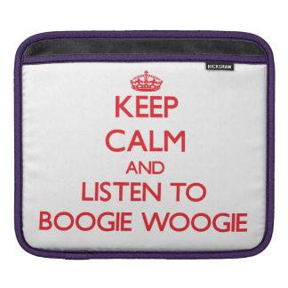 Keep calm and listen to BOOGIE WOOGIE iPad Sleeve