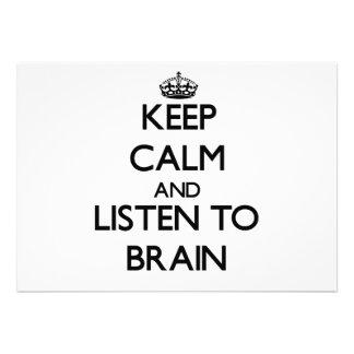 Keep Calm and Listen to Brain Announcements