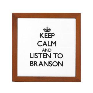 Keep Calm and Listen to Branson Desk Organizers