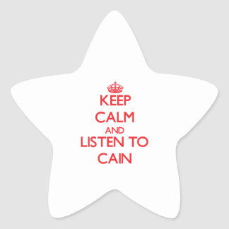 Keep calm and Listen to Cain Star Stickers