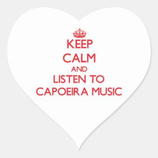 Keep calm and listen to CAPOEIRA MUSIC Sticker