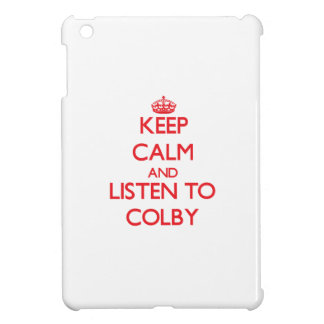 Keep Calm and Listen to Colby iPad Mini Covers
