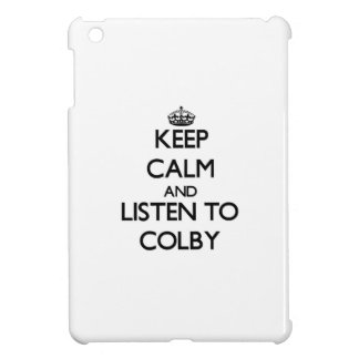Keep Calm and Listen to Colby iPad Mini Cases