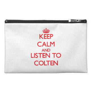 Keep Calm and Listen to Colten Travel Accessory Bag