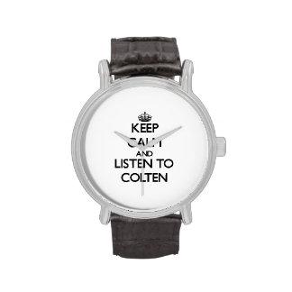 Keep Calm and Listen to Colten Wristwatches