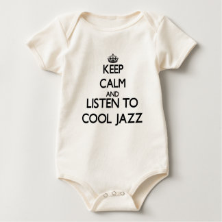 Keep calm and listen to COOL JAZZ Baby Bodysuit