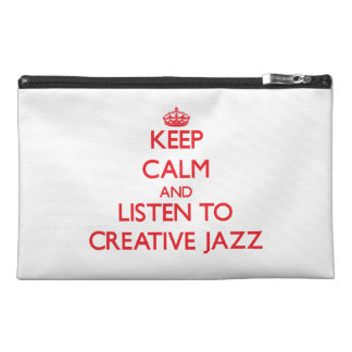 Keep calm and listen to CREATIVE JAZZ Travel Accessory Bags