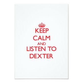 Keep Calm and Listen to Dexter Custom Announcement