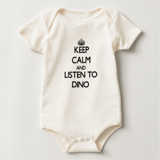 Keep Calm and Listen to Dino Baby Bodysuit