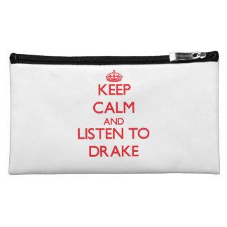 Keep calm and Listen to Drake Makeup Bags