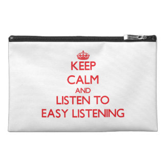 Keep calm and listen to EASY LISTENING Travel Accessories Bags
