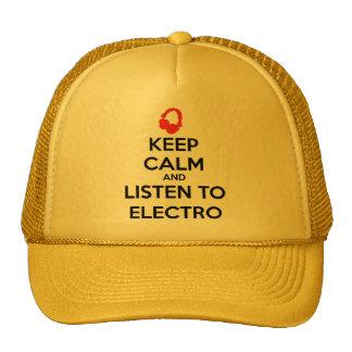 Keep Calm And Listen To Electro Cap