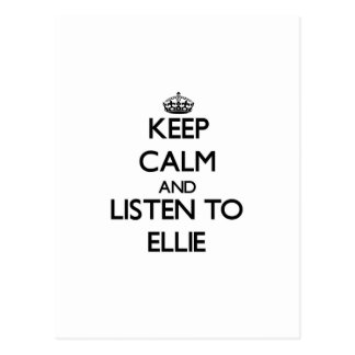 Keep Calm and listen to Ellie Postcard