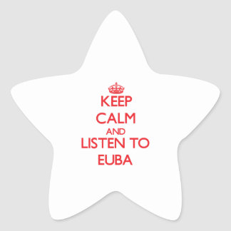 Keep calm and listen to EUBA Stickers