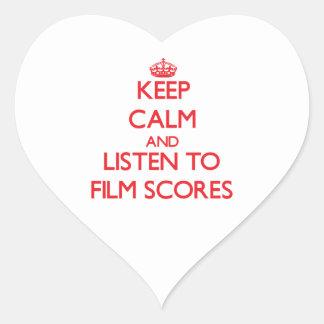 Keep calm and listen to FILM SCORES Sticker