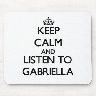 Keep Calm and listen to Gabriella Mousepad