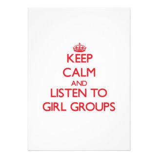 Keep calm and listen to GIRL GROUPS Custom Invitation