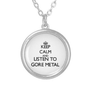 Keep calm and listen to GORE METAL Pendant